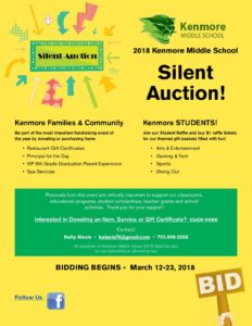 2018 silent auction flyer kenmore